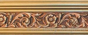 багетные карнизы золотистый