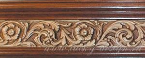 багетные карнизы орех коричневый античный