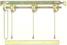 Подъемный механизм для римских штор своими руками