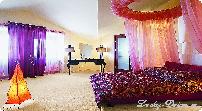 шторы для гостиной с эркером