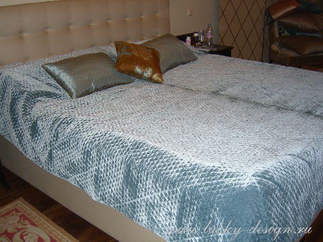 покрывало на кровать в спальню фото