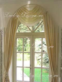 фото шторы для арочных окон