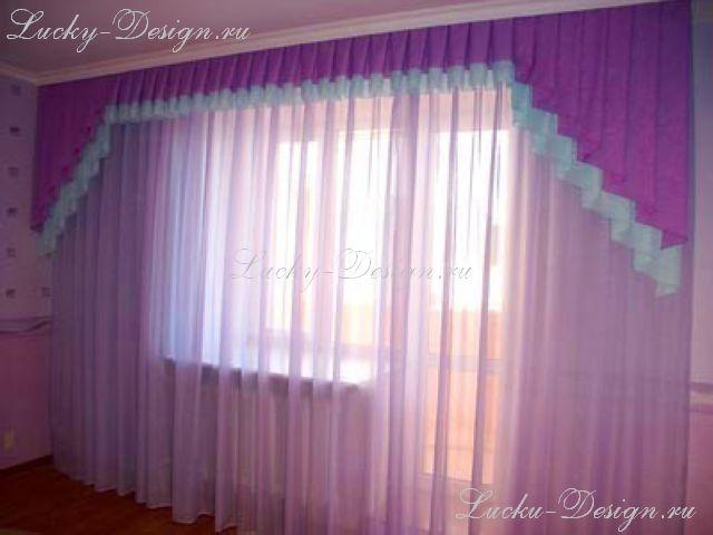 Дизайн окна в гостинной