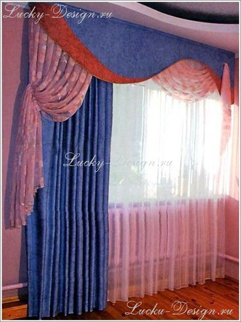 шторы для спальни ламбрекены