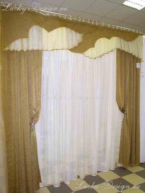 шторы и ламбрекены в спальне