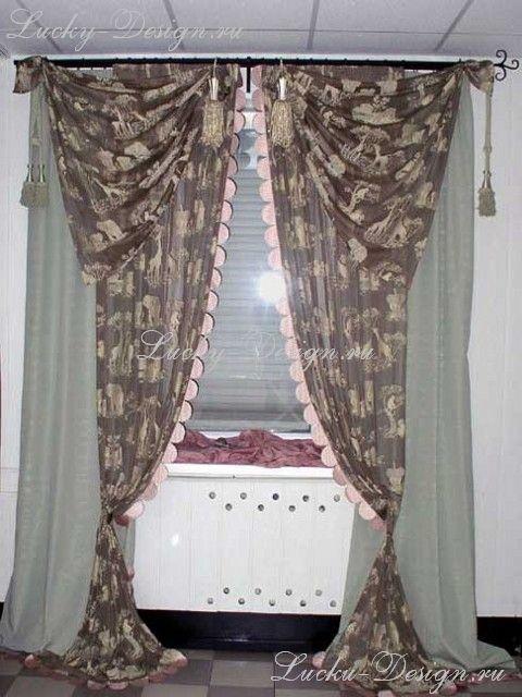 шторы с ламбрекеном фото на кухню