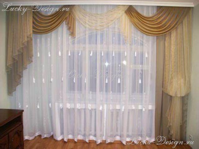 шторы и тюли для зала.