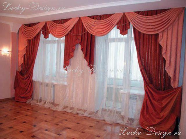 Шторы на окна в комнату с балконной дверью