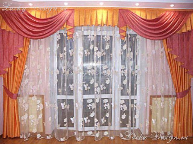 Оформление шторами зала