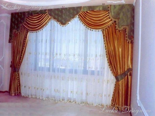 Шторы и тюль в зал фото