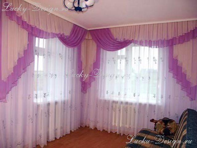 шторы и ламбрекены фотографии зал