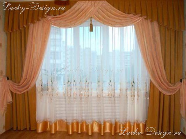 шторы ламбрекен для зала