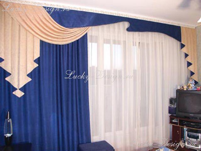 Тюль и шторы для зала