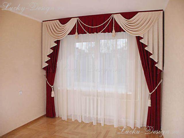 Интерьер спальни шторы