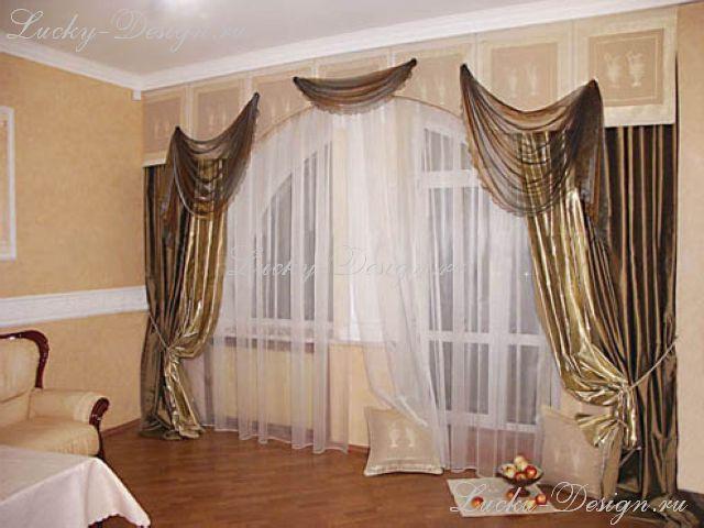 Элитные шторы с бандо