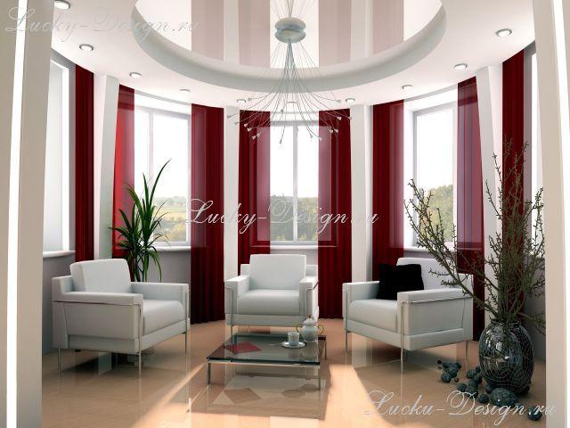 шторы в круглую комнату