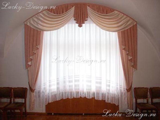 шторы и ламбрекены галстук классический