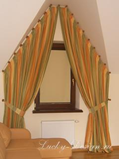 шторы для эркерного окна