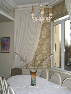 Дизайн штор на кухню фото