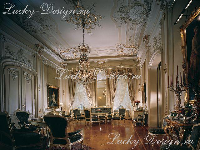 мебель и шторы в стиле барокко