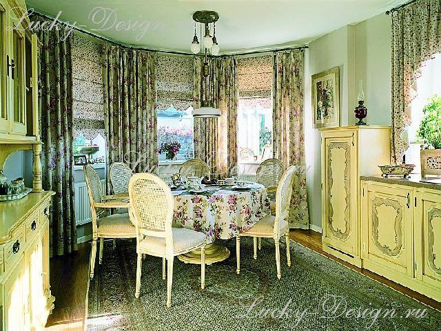 шторы для столовой гостиной фото