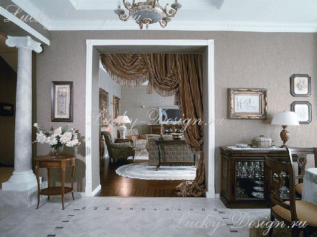 шторы несимметричные стиль барокко