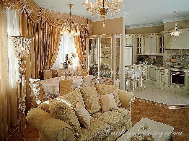 австрийские шторы ля гостиной