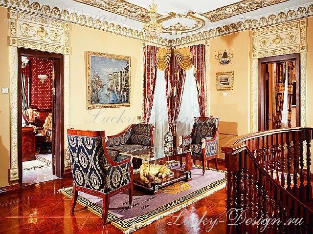 классические шторы для зала фото