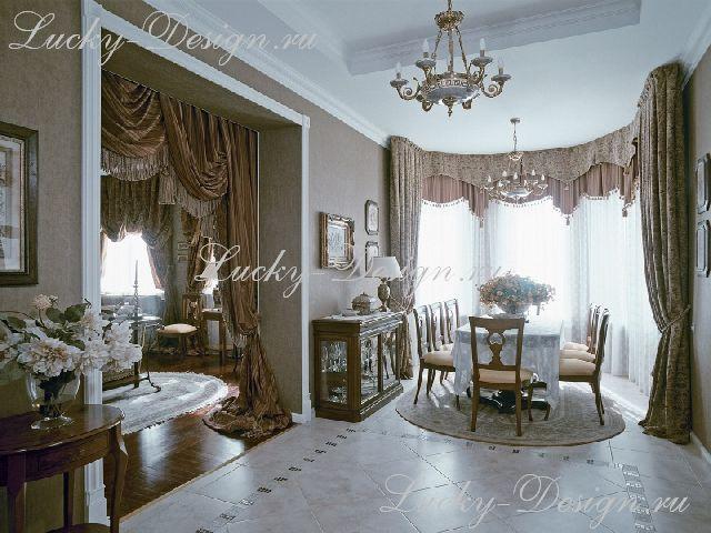 шторы в спальне барокко