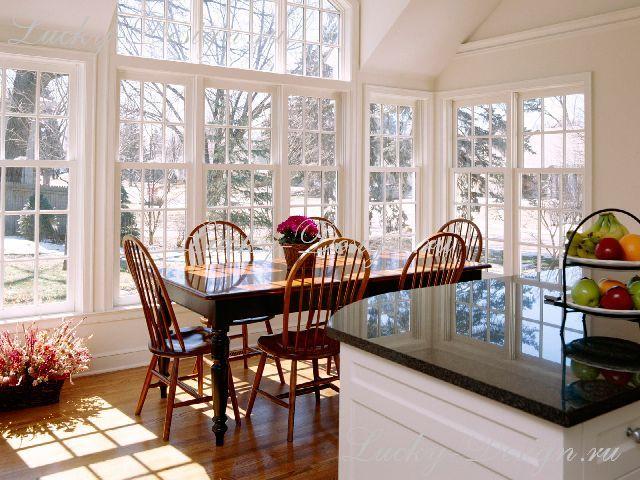 шторы в столовую и кухню фото