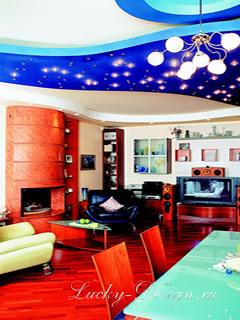 гостиная в стиле поп арт