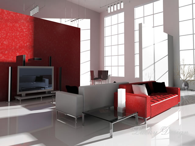 комната в стиле Хай тек