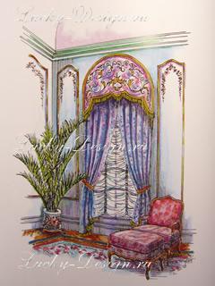 шторы в стиле рококо